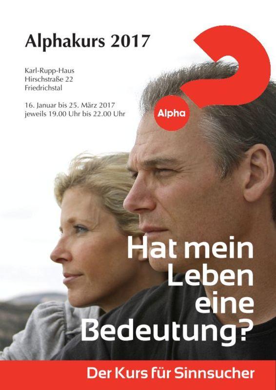 Alpha-Glaubenskurs in Friedrichstal