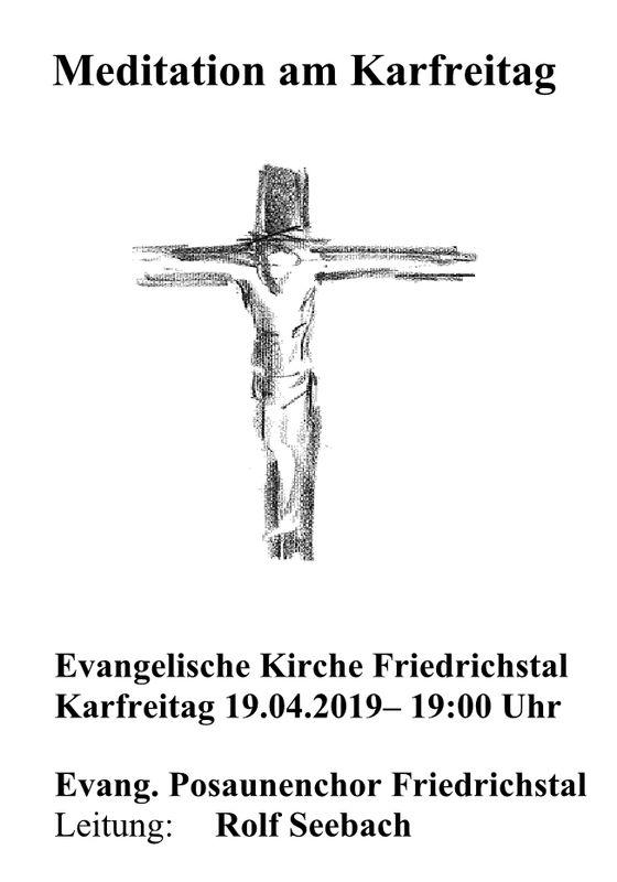Evangelischer Posaunenchor - Meditation am Karfreitag