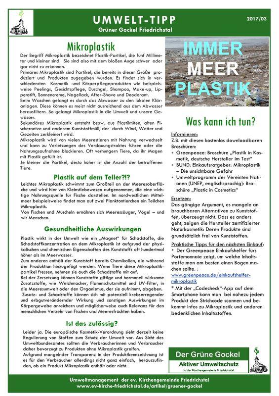 Umwelttipp vom Grünen Gockel 2017-3