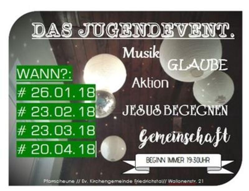 Einladung Jugendevent am 23. Februar
