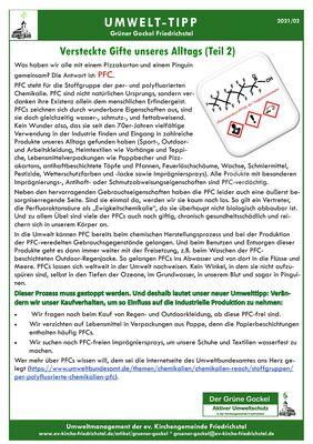Umwelttipp vom Grünen Gockel 2021-02