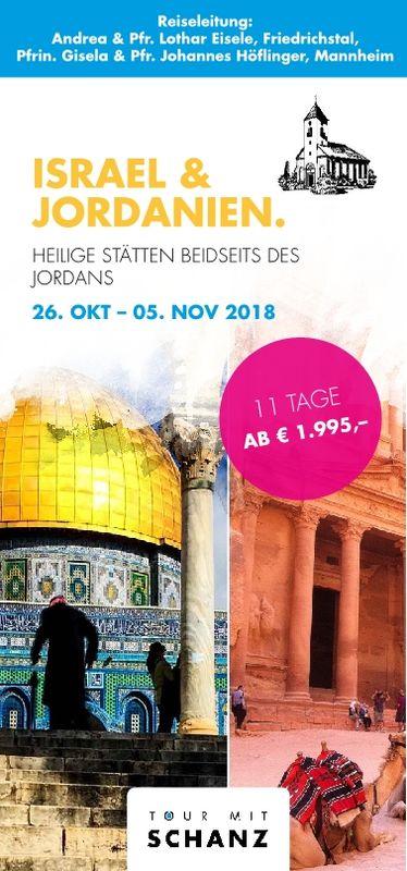 Studienreise Israel / Jordanien 26.10. bis 05.11.2018