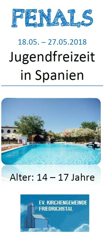 Jugendfreizeit in Spanien